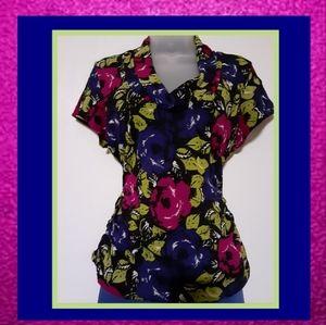 Chaus Multi Colored Blouse size XL